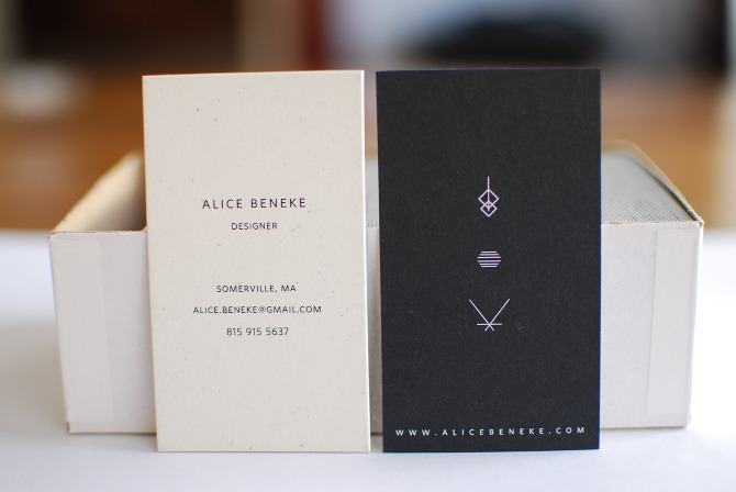 Personal Business Cards Alice Beneke