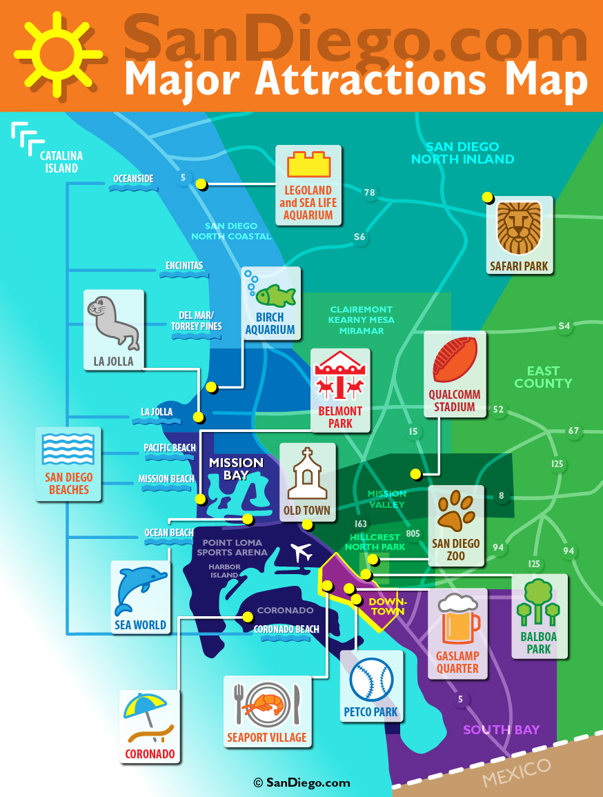 THEMED MAPS Carmen Rodr guez Pe amar a – Tourist Attractions Map In San Diego